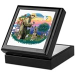 St. Fran #2/ German Shepherd (P) Keepsake Box