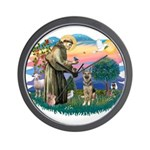 St. Fran #2/ German Shepherd (P) Wall Clock