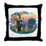 St. Fran #2/ German Shepherd (P) Throw Pillow