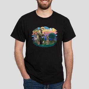 St. Fran #2/ German Shepherd (P) Dark T-Shirt