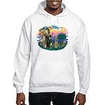 St. Fran #2/ German Shepherd (P) Hooded Sweatshirt
