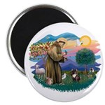 St Francis #2/ Fr Bulldog (brin) Magnet