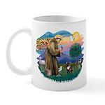 St Francis #2/ Fr Bulldog (brin) Mug