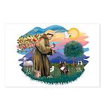 St Francis #2/ Fr Bulldog (brin) Postcards (Packag