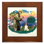 St. Fran #2/ English Springer (liver) Framed Tile