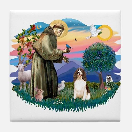 St. Fran #2/ English Springer (liver) Tile Coaster