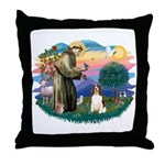 St. Fran #2/ English Springer (liver) Throw Pillow