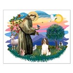 St. Fran #2/ English Springer (liver) Small Poster