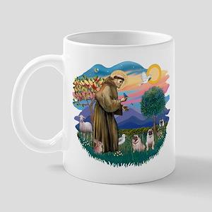 St. Fran #2/ Two Pugs (fawn) Mug