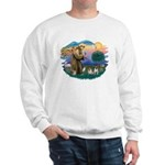 St. Fran #2/ Two Pugs (fawn) Sweatshirt