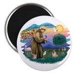 St Francis #2/ Pug (fawn) Magnet