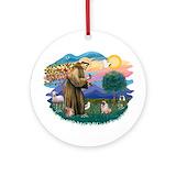 Fawn pug Round Ornaments