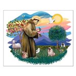 St Francis #2/ Pug (fawn) Small Poster