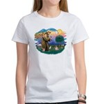 St Francis #2/ Pug (fawn) Women's T-Shirt