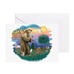St. Fran #2/ Apricot Poodle (min) Greeting Cards (