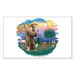St. Fran #2/ Apricot Poodle (min) Sticker (Rectang