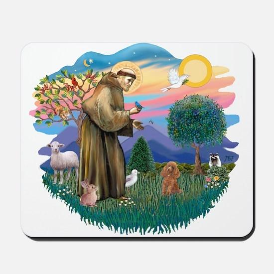 St. Fran #2/ Apricot Poodle (min) Mousepad