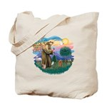 St. Fran #2/ Apricot Poodle (min) Tote Bag