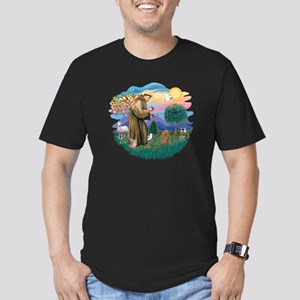 St. Fran #2/ Apricot Poodle (min) Men's Fitted T-S