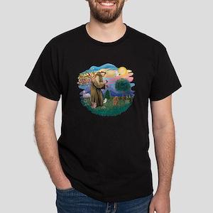 St. Fran #2/ Apricot Poodle (min) Dark T-Shirt