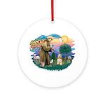 St. Fran #2/ Cocker Spaniel (#10) Ornament (Round)