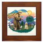St. Fran #2/ Cocker Spaniel (#10) Framed Tile