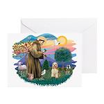 St. Fran #2/ Cocker Spaniel (#10) Greeting Cards (