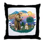 St. Fran #2/ Cocker Spaniel (#10) Throw Pillow
