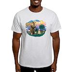 St. Fran #2/ Cocker Spaniel (#10) Light T-Shirt