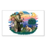 St Francis #2/ E Bulldog #3 Sticker (Rectangle)