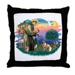 St Francis #2/ E Bulldog #3 Throw Pillow