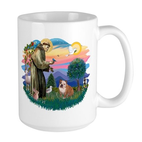 St. Fran #2/ English Bulldog (BrW) Large Mug