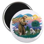 St. Fran #2/ English Bulldog (W) Magnet