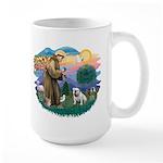 St. Fran #2/ English Bulldog (W) Large Mug
