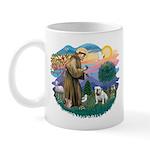 St. Fran #2/ English Bulldog (W) Mug
