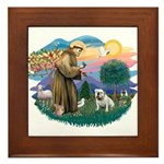 St. Fran #2/ English Bulldog (W) Framed Tile