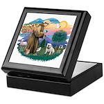 St. Fran #2/ English Bulldog (W) Keepsake Box