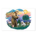 St. Fran #2/ English Bulldog (W) Postcards (Packag