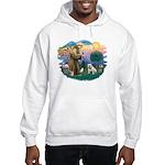 St. Fran #2/ English Bulldog (W) Hooded Sweatshirt