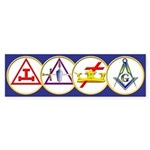 Masonic York Rite Circle Bumper Sticker