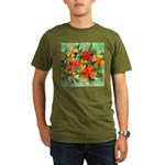 Tropical Flowers Organic Men's T-Shirt (dark)