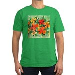 Tropical Flowers Men's Fitted T-Shirt (dark)