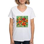 Tropical Flowers Women's V-Neck T-Shirt