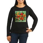 Tropical Flowers Women's Long Sleeve Dark T-Shirt