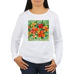 Tropical Flowers Women's Long Sleeve T-Shirt