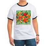 Tropical Flowers Ringer T