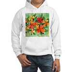 Tropical Flowers Hooded Sweatshirt