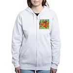 Tropical Flowers Women's Zip Hoodie