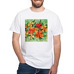 Tropical Flowers White T-Shirt