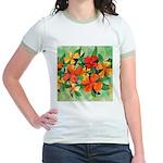 Tropical Flowers Jr. Ringer T-Shirt
